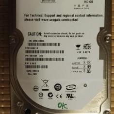 HDD LAptop Seagate 160Gb IDE, 100-199 GB, Rotatii: 5400