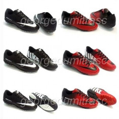 Adidasi Nike Mercurial Ghete Footbal - Ghete fotbal Nike, Marime: 37, 38, 44, Culoare: Negru, Rosu, Barbati, Asfalt: 1, Sala: 1