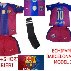 Set echipament fotbal Nike - COMPLEURI FOTBAL COPII 4-14 ANI, BARCELONA-MESSI, MODEL 2017, LIVRARE GRATUITA