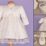 Set botez Baby Lace (Imbracaminte pentru varsta: 6 - 9 luni - 74 cm)