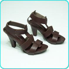 Sandale dama, Piele naturala - Sandale frumoase, solid construite, DIN PIELE, calitate MINUCCI _ femei | nr. 38