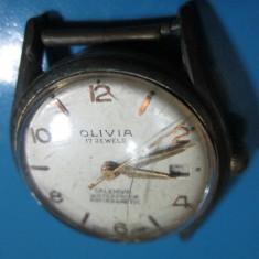 Ceas de mana - Ceas mecanic otel vechi-Olivia de mana Calendar Waterproof Antimagnetique.