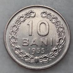 Monede Romania - 10 bani 1955 detalii aUNC moneda Romania RPR numismatica bani vechi