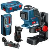 Nivela optica - BOSCH GLL 3-80 P + BM 1 + LR2 + L-BOXX Nivela laser cu linii + BM1 Suport +...