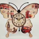 Ceas de masa - Fluture - London - Produs Nou - LICHIDARE DE STOC