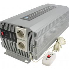 Invertor de tensiune 12V-230V, 2500W, SCHUKO, HQ - vit_HQ-INV2500/12 - Invertor Auto