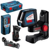 Nivela optica - BOSCH GLL 2-50 + BM 1 + LR 2 + L-BOXX Nivela laser cu linii + Suport BM 1 +...