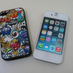 iPhone 4 Apple 16gb neverlocked alb decodat iOS 7.1.2 + BONUS husa silicon, Neblocat