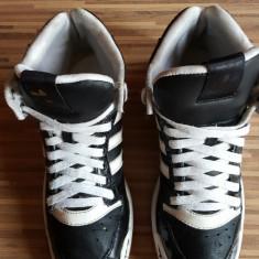 Adidas originali, piele naturala, high top, nr.39. - Adidasi barbati, Culoare: Negru