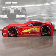 Pat copii masina Fulger Speed Rosu - Pat tematic pentru copii Altele, Altele, Alte dimensiuni