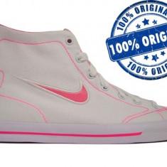Adidasi dama Nike Capri Mid - adidasi originali - tenisi panza, Marime: 38, Culoare: Alb, Textil