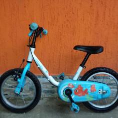 Bicicleta copii, 14 inch, 14 inch - Bicicleta BTWIN AQUA 14