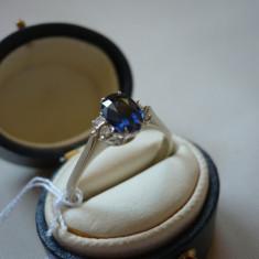 LICHIDEZ COLECTIE-INEL CU SAFIR SI BRILLIANTE - Inel diamant, 18k, Alb