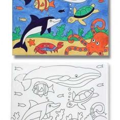 Pictura Pe Panza Canvas Peisaj Marin Melissa And Doug - Jocuri arta si creatie Melissa & Doug