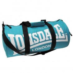 Geanta de sala ftness Lonsdale barrel bag - Geanta Barbati Lee Cooper, Marime: Masura unica, Culoare: Albastru, Geanta tip postas, Bumbac