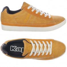 Adidasi barbati KAPPA_cu piele_in cutie_42_livrare gratuita, Culoare: Orange, Textil