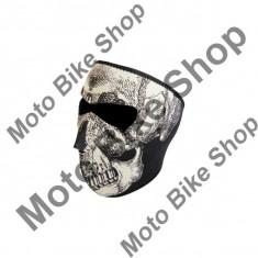 MBS Cagula fosforescenta SKULL Face, ZAN HEADGEAR, Cod Produs: 25030068PE - Cagula moto