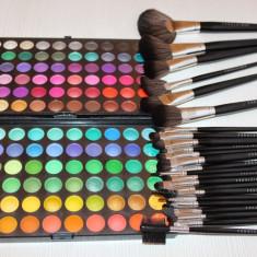 Trusa machiaj 24 pensule make up + Paleta fard Fraulein 120 de nuante fard ochi - Trusa make up Fraulein38