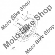 MBS Protectie praf rulment roata fata 2005 Yamaha TT-R125L (TTR125LT) #17, Cod Produs: 5HHF51180000YA - Kit rulmenti roata fata Moto