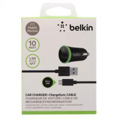 Belkin incarcator auto F8M668bt04 2.1A cu cablu micro USB