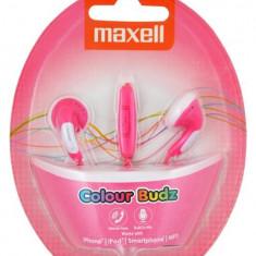 Casca Maxell stereo Colour Budz PINK cu handsfree 303752.00.CN - Casti PC