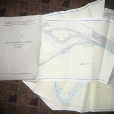 Caiet Harta Navigatie pe Dunare intre km 242 si M.71, scala 1:25000 -1963