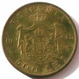 G5. ROMANIA 500 lei 1945, 10 g, Brass, 30 mm, Mihai I ** - Moneda Romania, Alama
