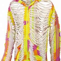 Bluza Hanorac Adidas Jeremy Scott JS Neoncamo Hoodie, Autentic, Nou cu Etichete - Hanorac barbati Adidas, Marime: S, Culoare: Din imagine, Bumbac