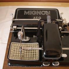 Masina de scris MIGNON AEG vintage-colectie