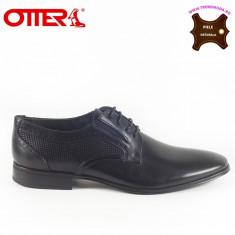 Pantofi barbati piele naturala OTTER negru (Marime: 42)