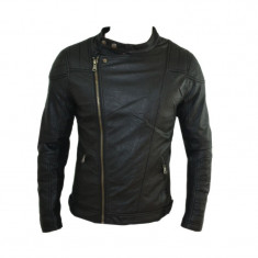 Geaca Barbati Zara David Beckham Office Casual Imblanita Cod Produs 9095, Marime: L, XL, Culoare: Negru, Piele