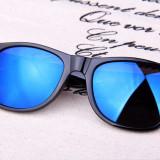 OCHELARI DE SOARE POLARIZATI CU FACTOR DE PROTECTIE UV 400 + CADOU, Unisex, Albastru, Rotunzi, Protectie UV 100%, Oglinda