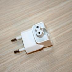 Adaptor priza incarcator Apple Macbook, Magsafe, Iphone, Ipad. Este noua, alb. - Adaptor incarcator