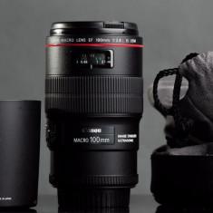 Canon 100 mm MACRO F 2.8 L - Obiectiv DSLR