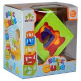 Jucarie Piramida din cuburi colorate