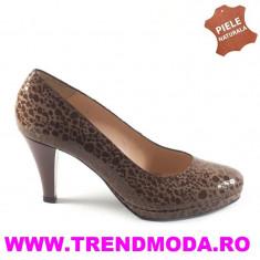 Pantofi dama piele DORA DDL maron boa (Marime: 37) - Pantof dama
