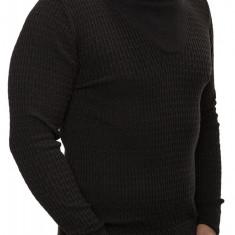 Pulover Barbati din Tricot Fin Carisma Negru 7132, Marime: S, M, L, XL, XXL, Culoare: Din imagine