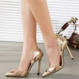 CH2325-7 Pantofi stiletto cu model transparent