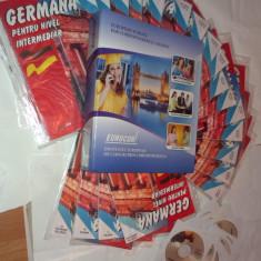 CURS EUROCOR DE GERMANA PENTRU NIVEL INTERMEDIAR (20 CAIETE + 20 CD-URI AUDIO) - Curs Limba Germana Altele