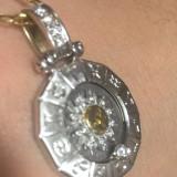 Pandativ Aur 18K cu Diamante RAR! Model deosebit - Pandantiv aur alb
