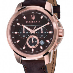 Ceas Maserati cod R8871621004 - pret 799 lei (Nou; Original) - Ceas barbatesc, Elegant, Quartz, Inox, Piele, Cronograf