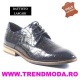 "Pantofi barbati piele naturala OTTO JONES bleumarin lac ""croco"" (Marime: 41)"