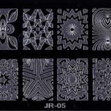 Matrita metalica pentru unghii Placuta medie Model JR 05 - Unghii modele