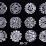 Matrita metalica pentru unghii Placuta medie Model JR 27 - Unghii modele