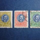 Romania, 1930 Carol II uzuale serie stampilata