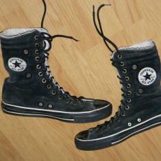 Ghete Converse All Star marimea 42 in stare buna - Tenisi barbati Converse, Culoare: Negru, Piele intoarsa