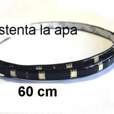 Banda flexibila 24 led-uri 5050 (60 cm) lumina galben 12V