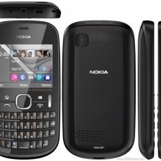Nokia Asha 201 Orange - Telefon Nokia, Negru, Nu se aplica, Fara procesor