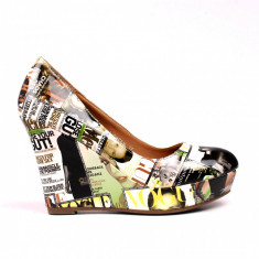 Pantofi dama Lucky verzi - Pantof dama