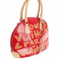 Louis Vuitton Alma Graffiti - Geanta Dama Louis Vuitton, Culoare: Rosu, Marime: Medie